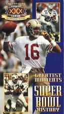 Greatest Moments in Super Bowl History 30th Anniversary Edition VHS Joe Montana