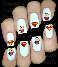 SUPERMAN MINION  Stickers autocollant ongles manucure nail art water decal
