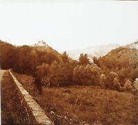Auvergne Paesaggio Francia Foto Stereo PL58L6n12 Placca Da Lente c1920