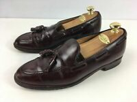 MENS SHIPTON & HENEAGE HARROW RED BROWN LEATHER LOAFER SLIP ON SMART SHOES UK 10