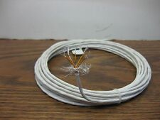 38 feet 24 AWG Shielded Silver PTFE Kapton Wire 5 twisted 19 strand