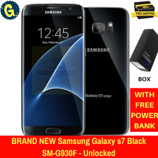 Brand new Samsung Galaxy s7 SM-G930F 32GB 4G Black Android Unlocked Smartphone