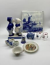 Mixed Lot Collectables Of Dutch Ornaments Holland Souvenirs Figurines Thimble
