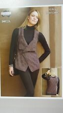 Heirloom Knitting Pattern #340 Ladies Vest Wrap to Knit in 12 Ply - One Size