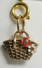 New In Box JUICY COUTURE MINI C-Basket Charm