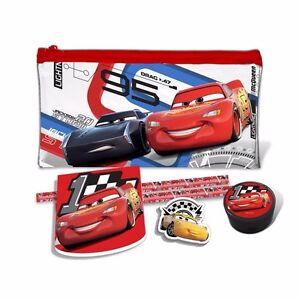 Disney Cars 3 Filled Pencil Case Cars Pencil, Sharpener, Eraser, Pad