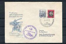 DDR Beleg 50. Jahrestag Erste Postbeförderung mit Flugzeug Bork-Brück - b3124