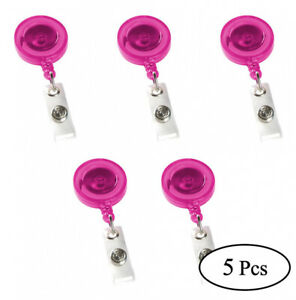 Premium 5-50 Pcs Retractable Clip on Name Badge Reel Key-Chain Holder