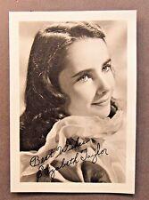 young ELIZABETH TAYLOR facsimile signed Studio photo fan photo