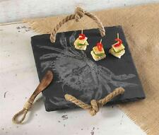 Mud Pie Classic Crab Collection Slate Nautical Serving Tray Platter 4651003 New