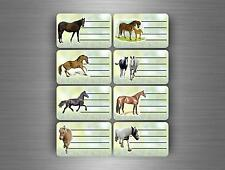 16x label sticker book school name tags notebook stationary diary horse