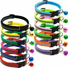Reflective Charm and Bell Cat Collar Safety Elastic Adjustable With Soft Velvet