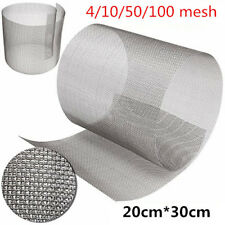 Stainless Steel Woven Wire High Quality Screening Filter Sheet 4/10/50/100 Mesh