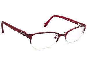 Coach Eyeglasses HC5046 leigh T9134 Satin Burgundy Half Rim Frame 52[]18 135