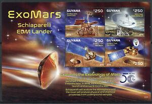 Guyana Space Stamps 2016 MNH ExoMars Schiaparelli EDM Lander Mars 4v M/S