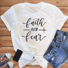 Faith Over Fear Christian T-Shirt Religion Clothing For Women