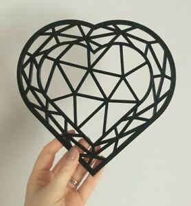 Geometric Heart Wall Art Decor Hanging Decoration Origami Style