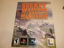 "Scarce 2003 X BOX PlayStation LUCAS ARTS ""SECRET WEAPONS OVER NORMANDY"" Poster"