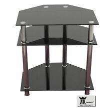 Porta TV RR design salotto soggiorno con 3 ripiani in vetro nero! OCCASIONE!!!!!