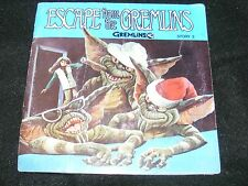 1984 ESCAPE From the GREMLINS Kids Story Record and Book 7 inch BUENA VISTA Orig