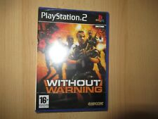PS2 Without Warning UK Pal,  New & Sony Factory Sealed