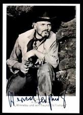 Harald Leipnitz Autogrammkarte bekannt aus Winnetou