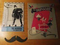 The Drunkard Playbill, Souvenir Program and Moustache