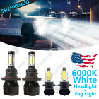 For 2004-2014 Ford F-150 6000K LED Headlight Hi/Lo + Fog Light Bulbs Combo 4x WG