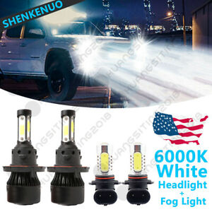 LED Headlight CREE Bulb Hi//Lo Kit H13 9008 6K White For 2005-2012 Ford Mustang
