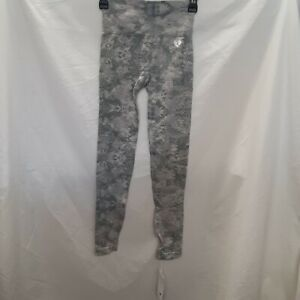Women's Best Womens Gray High Rise Workout Camo Seamless Leggings Size Small