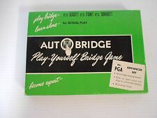 VINTAGE BRIDGE -  PLAY- YOURSELF BRIDGE GAME MADE IN U.S.A.