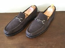 Cole Haan Silver Horsebit Suede Slip On Loafers Sz. 10 M