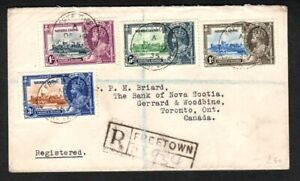 Sierra Leone 1935 Silver Jubilee Reg'd Cover with set SG181/4 to Canada