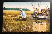1926 Tallinn Estonia Color Picture Postcard Cover Locally Used Village Life