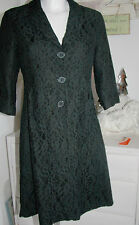 Avoca Mantel-Kleid Coat Filigrct Black Spitze 3/4 Ärmel Schwarz size: 1/XS Neu