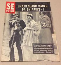 QUEEN ANNE-MARIE KING CONSTANTINE GREEK ROYALS Rare Vintage Danish Magazine 1967