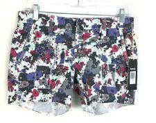 NEW Hurley Womens Low Rider Shorts size 0 Floral White Red Blue Black Cotton CPK