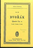 DVORAK ~ String Quartet D moll Op. 34 - Studienpartitur