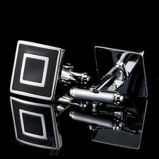 Black Squares Men's Cufflinks Cuff Links Mens Wedding Business Cufflinks A96