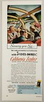 1956 Print Ad California Zephyr Train Vista Dome Car Happy Passengers