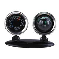 2 in 1 Guide Ball Car Compass Thermometer Car Ornaments Direction Dashboard SL