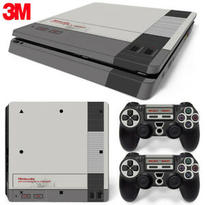 PS4 Slim Playstation 4 Console Skin Decal Sticker Old Effect NES Retro Custom