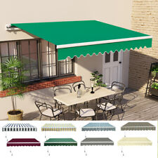 More details for patio diy manual awning garden canopy sun shade retractable shelter top fabric