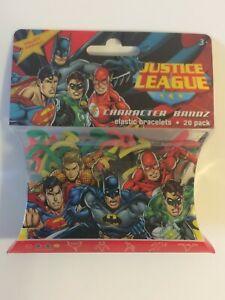 Vintage DC Comics Justice League Character Bandz Elastic Bracelets 20 pk Batman