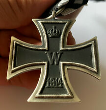 WWI IMPERIAL GERMAN 1914 IRON CROSS 2nd Class medal full size award with ribbon