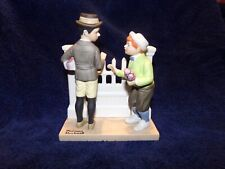 """The 12 Norman Rockwell Porcelain Figurines, The Danbury Mint, """"The Rivals"""" 1980"""