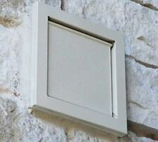 Dryer wall vent 4 inch flush mount magnetic door ( Tan )
