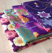 "Japanese Fabric Set of 4pcs Patchwork craft Asian 1/2yds 21x19""(55x50cm) Purple"
