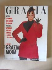GRAZIA Rivista di moda n°2485 1988 Monica Bellucci [VL21] Rarissimo!