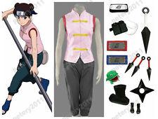 Custom-made Naruto Anime Cosplay Tenten Costume Halloween Set